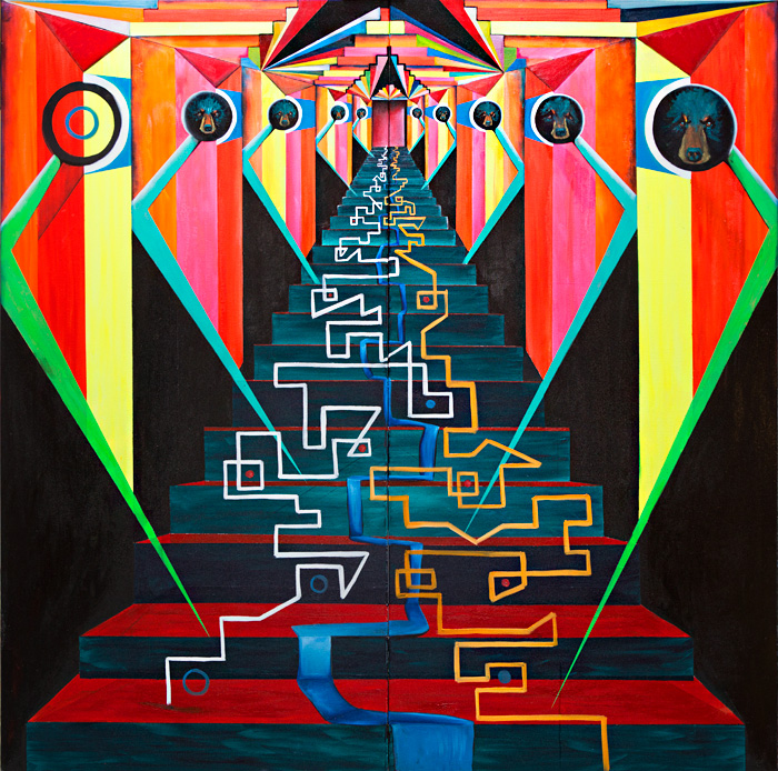 Ritual Action of the Ancestors - Painting by Paula Arciniega