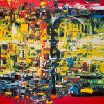 SOS NYC - Painting by Paula Arciniega