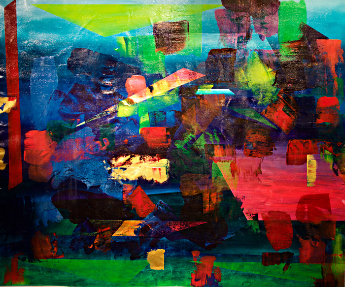 Unified Variety, Varied Unity III - Painting by Paula Arciniega